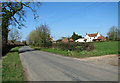 TG1105 : Houses in Wramplingham Road, Wramplingham by Evelyn Simak