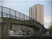 TQ3685 : Bridge to Hackney Marshes by Ben Harris