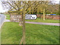 TM0652 : Barking Village Hall signs by Adrian Cable