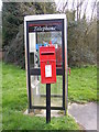 TM0652 : Telephone Box  & 27 Fox Meadow, Barking Tye Postbox by Adrian Cable