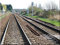 TL4197 : Railway tracks at Norwood Road, March by Richard Humphrey