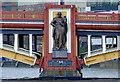 TQ3078 : Vauxhall Bridge sculpture - Pottery by Thomas Nugent