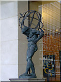 TQ3078 : Atlas sculpture by Thomas Nugent