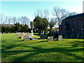 SJ8075 : Graveyard at Marthall parish church by Anthony O'Neil