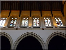 TQ2475 : All Saints, Fulham: stained glass windows (8) by Basher Eyre