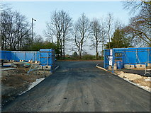 SJ7886 : Building site entrance to St Ambrose College from Hale Road by Anthony O'Neil