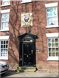 SJ4692 : Doorway of No 8 Vicarage Place, Prescot by Alexander P Kapp