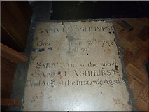 TQ2475 : All Saints, Fulham: floor memorial (iii) by Basher Eyre