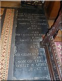 TQ2475 : All Saints, Fulham: floor memorial (vii) by Basher Eyre