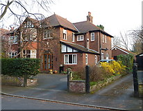 SJ7886 : Detached house in Grange Avenue, Hale, Cheshire by Anthony O'Neil