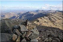 NY2406 : The summit cairn on Bowfell by Bill Boaden