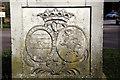 TQ2897 : Coat of Arms on Obelisk, Trent Park, London N14 by Christine Matthews