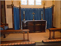 TQ2475 : All Saints, Fulham: side altar by Basher Eyre