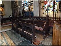 TQ2475 : All Saints, Fulham: choir stalls by Basher Eyre