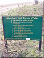 TM3758 : Gemham Hall Estate sign by Adrian Cable