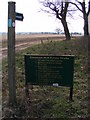 TM3758 : Footpath & Gemham Hall Estate sign by Adrian Cable