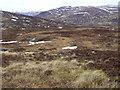 NN6670 : Apron of wet hillside on the south side of Allt Choire Leathanaidh near Dalnaspidal by ian shiell