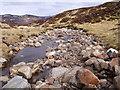 NN6570 : The streambed of Allt Choire Leathanaidh near Dalnaspidal by ian shiell