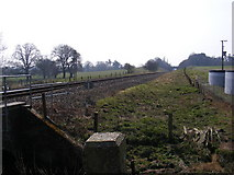 TM3760 : Looking along the railway to Wickham Market by Adrian Cable