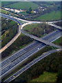TQ3041 : M23 Junction 9 from the air by Thomas Nugent