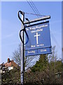 TM3861 : St. Mary Magdalene Church sign, Sternfield by Adrian Cable