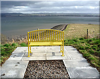 NH6750 : Public seat overlooking Moray Firth by Julian Paren