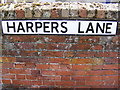 TM3863 : Harpers Lane sign by Adrian Cable