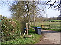 TM3462 : Footpath to Low Road & entrance to White House Farm by Adrian Cable