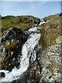 NY5012 : Waterfall Under Thorny Knott by Michael Graham