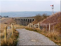 SD7992 : The Pennine Bridleway heading to Dandrymire Viaduct by Christine Johnstone