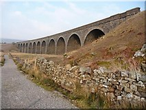 SD7992 : Dandrymire viaduct, from the new bridleway by Christine Johnstone