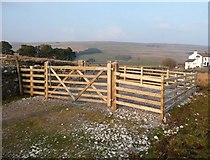 SD7992 : Safety first as the Pennine Bridleway crossed the A 684 by Christine Johnstone