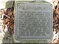 SU3319 : The Sounding Arch plaque by Alex McGregor