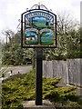 TQ0216 : Millennium sign at Coldwaltham by Shazz