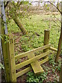 TM3860 : Stile on footpath to Watering Lane by Adrian Cable