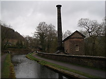 SK3155 : Cromford Canal and Leawood Pump House by JThomas