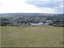 TQ4210 : View towards Lewes from Malling Hill by Ian Cunliffe