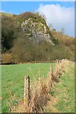 SK0955 : Crag near Dafar Bridge by Mick Garratt