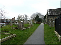 TQ1711 : St. Andrew's, Steyning: approaching the church porch by Basher Eyre