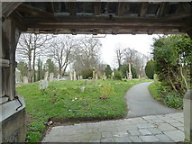 TQ1711 : St. Andrew's, Steyning: looking from the lychgate by Basher Eyre