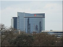 TQ1876 : Zoom in on the GlaxoSmithKline building by Robert Lamb