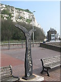 TR3241 : Cycle Network Milepost in Dover by David Anstiss
