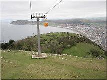 SH7783 : Llandudno - Cable car heading up the Great Orme by Alan Heardman