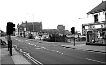 SU1484 : Commercial Road near Market Street (in 1977), Swindon by P L Chadwick