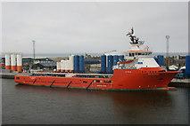 NJ9505 : E. R. Georgina in Aberdeen Harbour by Mike Pennington
