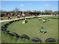 TQ5214 : Child's tractors at Blackberry Farm by Oast House Archive