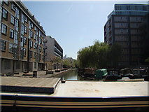 TQ3283 : View of the Wenlock Basin from the Regent's Canal towpath by Robert Lamb