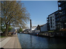 TQ3283 : View of another former factory (now Access Self-storage) from the Regent's Canal Towpath #2 by Robert Lamb