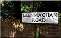 J3975 : Glenmachan Road sign, Belfast (2) by Albert Bridge