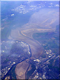 SJ5183 : Widnes Bridge and the Mersey from the air by Thomas Nugent